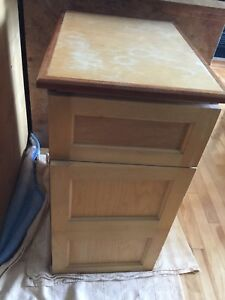 Office cabinet with shelving- stained
