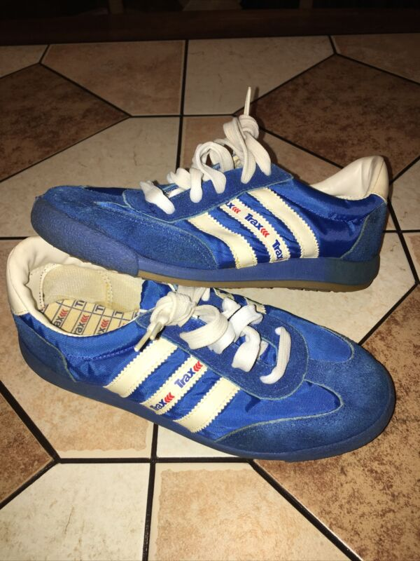 Vintage Trax Running Tennis Shoes Sneakers Suede Blue Size 5.5
