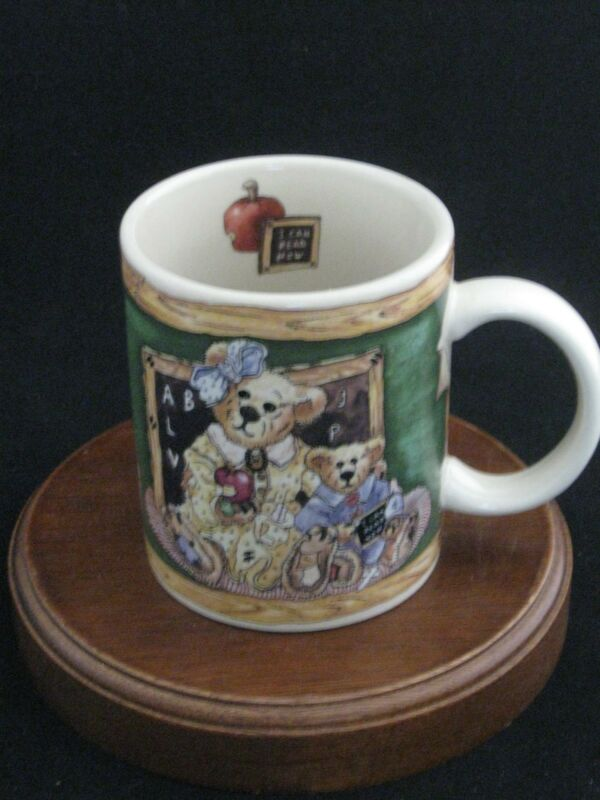 "The Boyds Collection Bearware Pottery Works ""Teacher"" Mug"