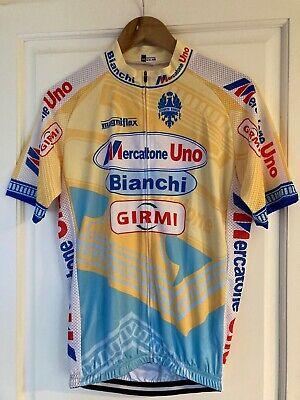 Maillot Cycliste Vintage Réplique MERCATONE UNO Bianchi Marco Pantani 1998 XL