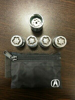 Genuine OEM Acura Wheel Locks 08W42-S6M-201 RDX ILX TLX TSX USED GOOD CONDITION
