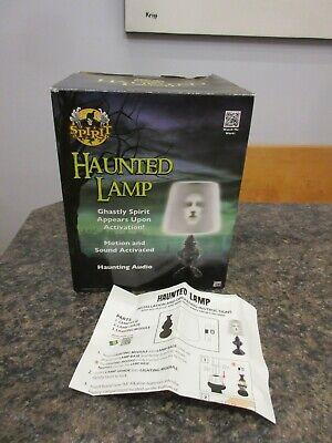 Spirit Halloween Light Up Haunted Lamp Talking Ghostly Spirit Appears Mint Box