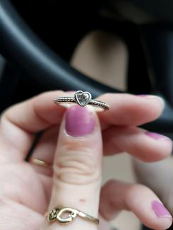 Small pandora love heart ring
