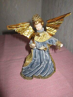 Koestel Engel Wachsengel Weihnachtsengel Rauschgoldengel Samtkleid ()