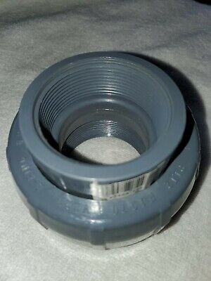 2 Pvc Schedule 80 Union Txt Threaded Both Ends - Lasco 8058-020 - New