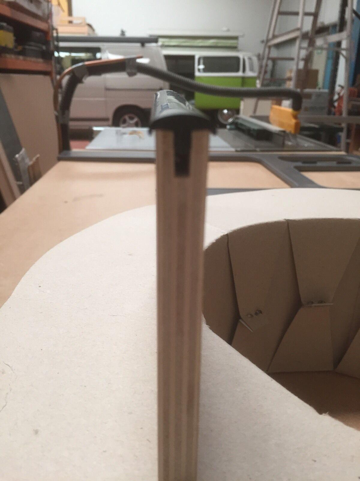 12mm t trim black table trim 5 metres furniture knock on for Furniture t trim edging