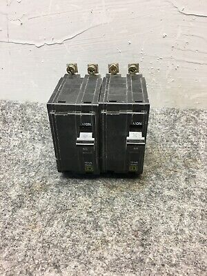 Lot Of 2 Square D Circuit Breaker AD-7866 50Amp 2 Pole Square D Circuit Breaker