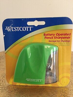 Westcott Battery Operated Pencil Sharpener Green New In Package