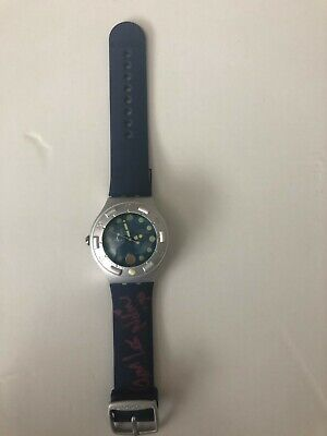 Swatch Watch Collectable: Scuba Irony 200, Blue, Mermaid Bubbles