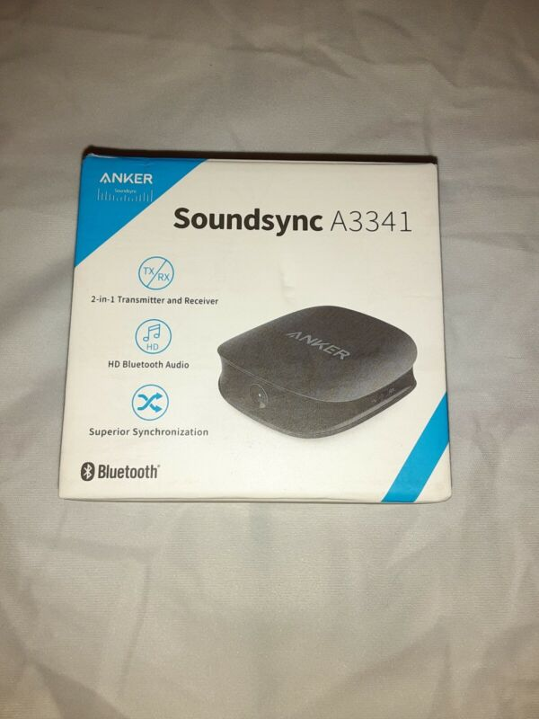 ANKER SOUND SYNC BLUETOOTH 5, 2-IN-1 TRANSMITTER RECEIVER AUX/RCA/OPTICAL HD
