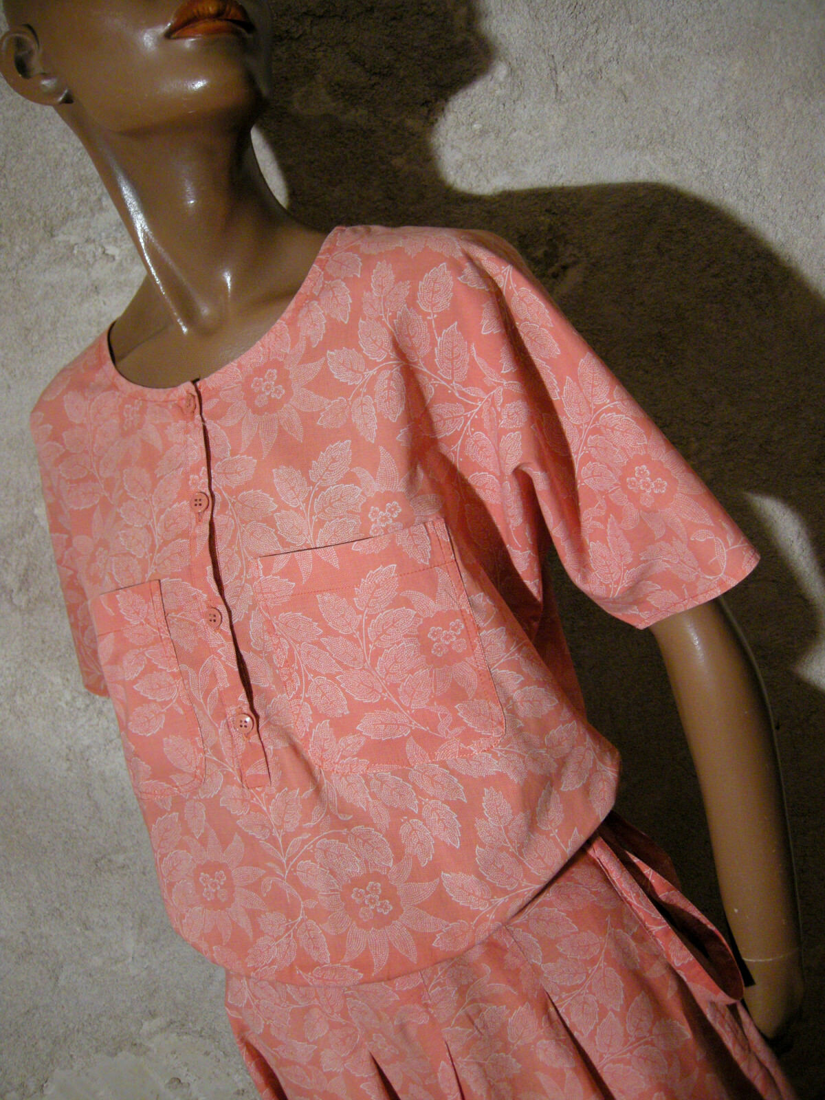 Cacharel chic vintage robe 1970 true vtg dress 70s kleid 70er abito retro ( 36 )