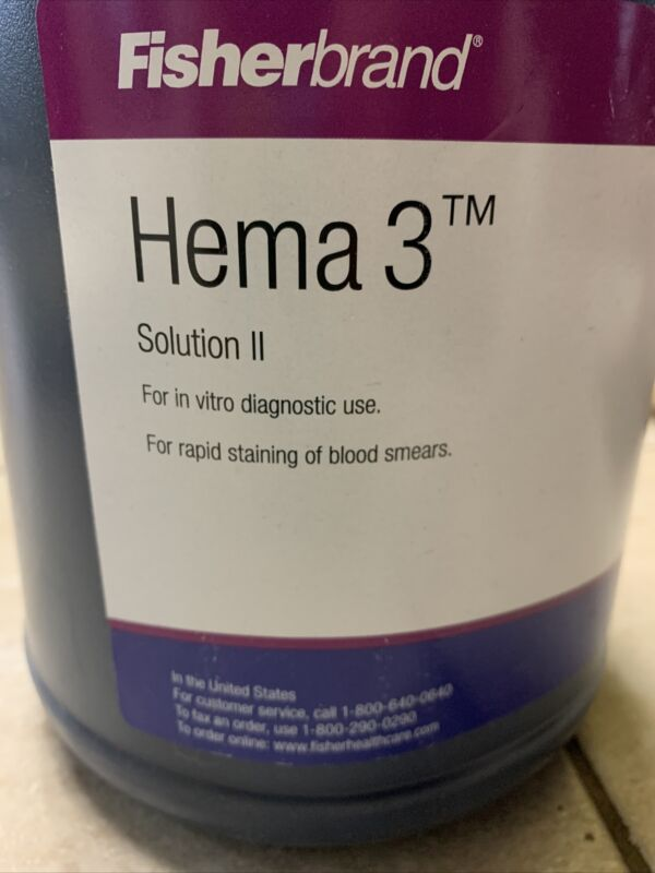 FisherBrand Hema 3 Solution II, 1 Gal