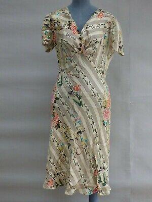 Authentic John Galliano Silk Floral Print Elegant Dress size IT 46 UK 14 12