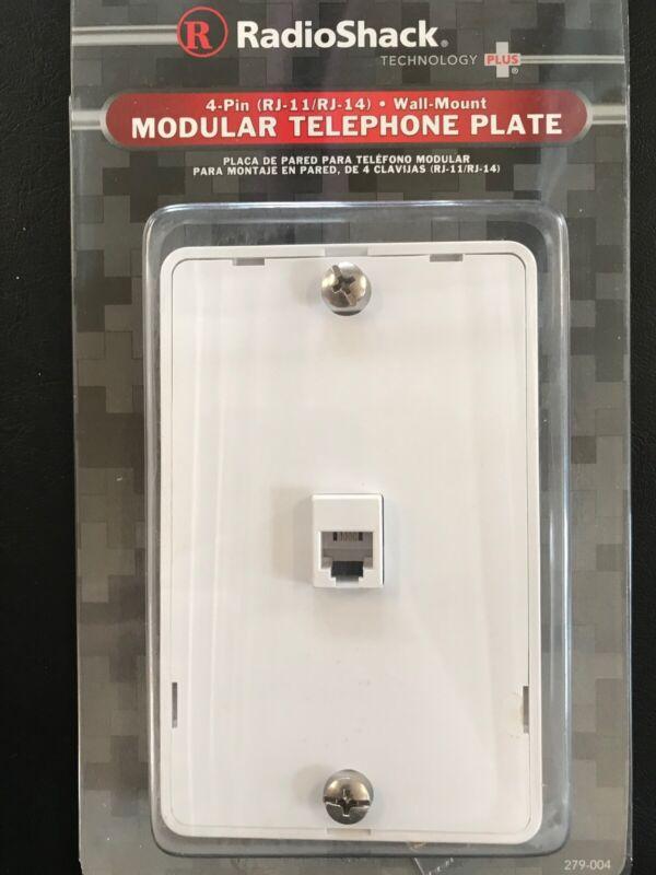 RadioShack Modular Telephone Wall Plate/Wall Mount (4 Pin)