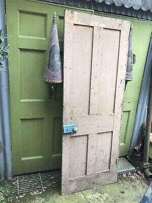 Antique Victorian painted pine panelled door