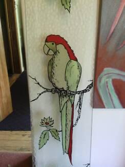 Door panel glass parrot design Mortdale Hurstville Area Preview