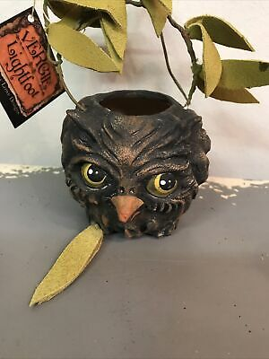 Vergie Lightfoot Halloween Owl Bucket Bethany Lowe New