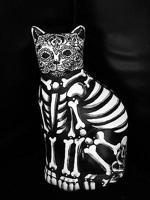 Dia De Los Muertos Cat (Day of the Dead Cat Bank Statue Hand Painted  Art Dia de los Muertos)