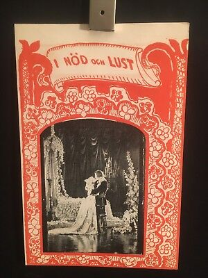 To Have And To Hold 1922 ORG Swedish Movie Poster Herald Program Betty - To Have And To Hold Movie