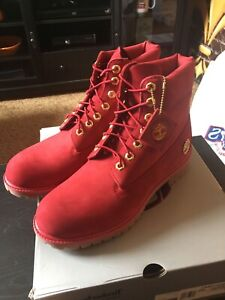 Brand New Limited Edition Ruby Timberlands Sz 10.5