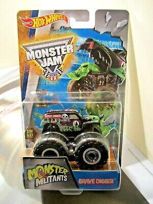 Hot Wheels Monster Jam Truck 1:64 Monster Mutants Grave Digger w/ monster tongue