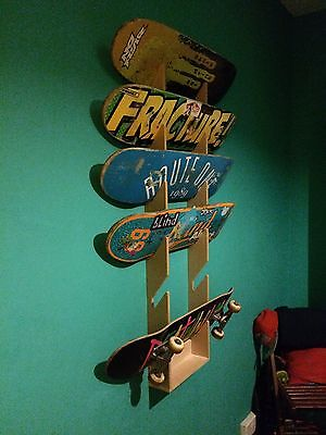 Skateboard Rack. Holds up to 6 boards. Wall Mounted.