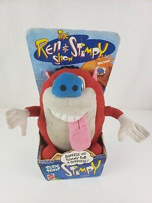 The Ren and Stimpy Show RUDE TOOT STIMPY -  MATTEL 1992 NEW Damaged ! PLUSH TOY na sprzedaż  Wysyłka do Poland
