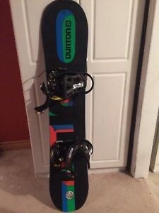 Burton snowboard 134 cm with bindings