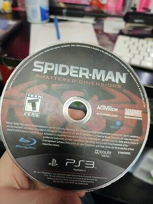 Spider Man Shattered Dimensions PS3 (Sony PlayStation 3, 2010) Disc Only tested