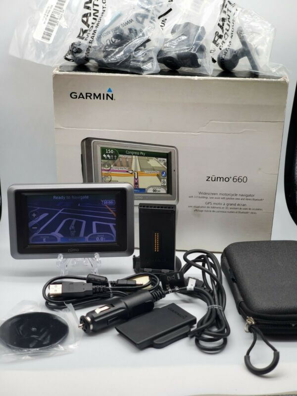 Garmin Zumo 660  Motorcycle/Car GPS bundle - updated 2020 maps FREE SHIPPING