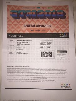 GTM TICKET FOR SALE!!