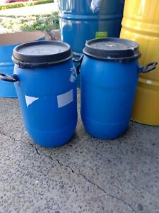 Food grade plastic drums empty and clean