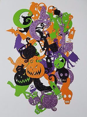 Card Stock Halloween Themed Scrap Booking Die Cut Out Confetti Embellishments - Halloween Cut Out Cards