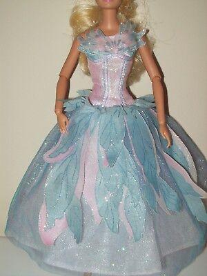 Barbie Doll Clothes Swan Lake Princess Odette Dress Evening Gown Blue Pink D214 Barbie Blue Princess Doll