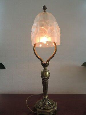 """Art Deco """" Empire Stil """" Tischlampe Lampe Pressglas Tischleuchter Lampe"""