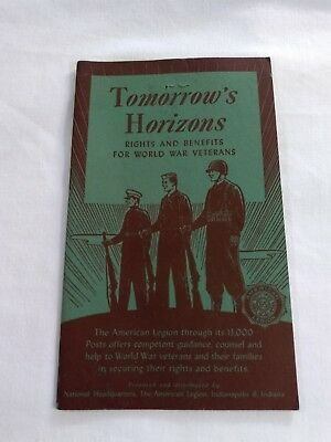 Vintage WWII Veterans Indianapolis American Legion Rights Benefits Booklet