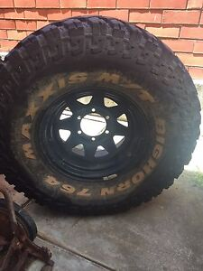 Maxxis Bighorn 33x12.5R15 tyres with rims Greensborough Banyule Area Preview