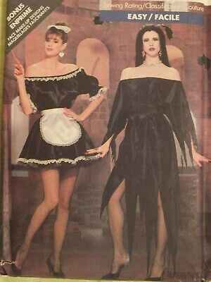 Easy OOP BUTTERICK 5800 MS French Maid Elvira Halloween Costumes PATTERN 6-18 UC