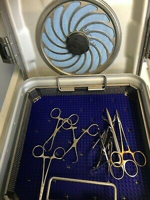 Blepharoplasty Surgical Instrument Tray Complete With Sterilization Tray