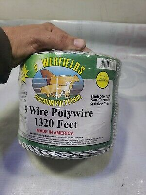 Polywire Electric Fencing 1320 Whiteblack 9 Stainless Steel Conductors