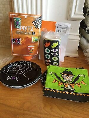 Kids Halloween Party 8-10 Napkins, Plates, Cups- Fast - Halloween Plates Cups Napkins