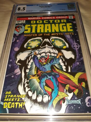 Doctor Strange #4 CGC 8.5 (VF+) - Death Appearance & Skull Cover - New Slab