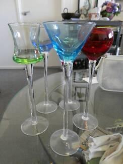 long stem colour collection liqueur shot glasses