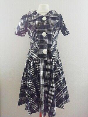 tümkleid, schwarz/weiß kariert, ca Gr.36 (50er Jahre Kostüm Kostüme)