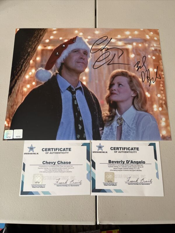Autographed Chevy Chase Beverly D'angelo Signed 11x14 Photo Lampoon Ssg Coa