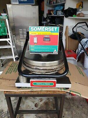 Somerset Sdp-800 Pizza Or Bread Or Tortilla Dough Press Manual Operation Dual