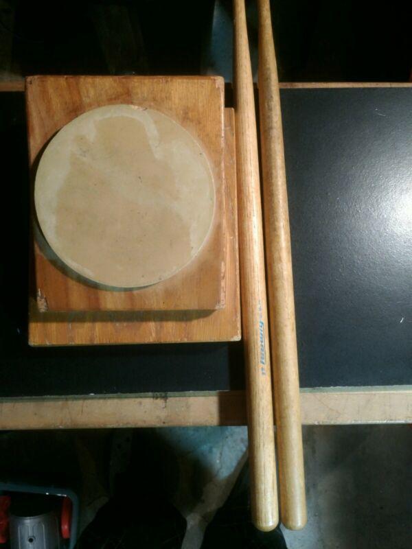 Vintage Ludwig Drum Practice Pad and 17 inch Drum sticks
