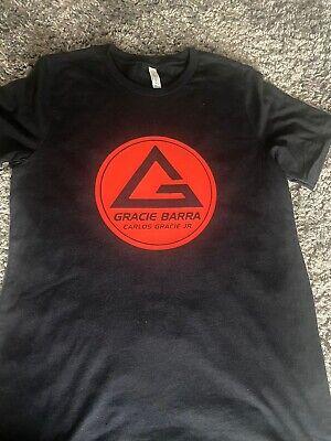 Gracie Barra Jiu Jitsu Tshir Black And Red