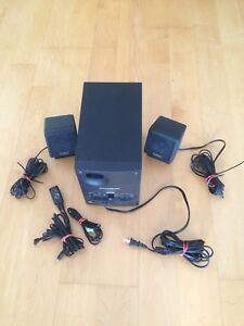 Speakers with bass amplifier