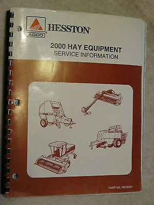 2000 Agco Hesston Hay Equipment Service Bulletins Information Repair Manual